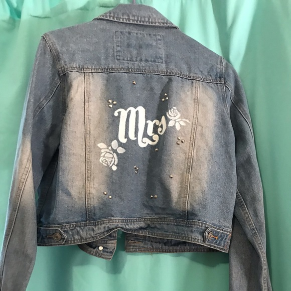 528dae18c Custom Mrs. Denim Jacket